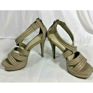 Herve Leger Women Sandals Strappy Heels Platform 7